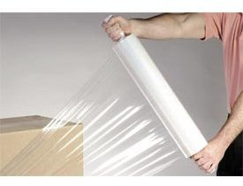 "Picture of item 295-110 a Pallet Wrap.  20"" x 1,000 Feet.  80 Gauge.  Pallet Stretch Wrap on Disposable Extended Core Handles."