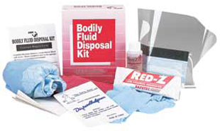 Picture of item 968-707 a BODILY FLUID DISPOSAL KIT.