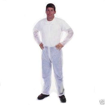 COVERALLS WHITE NO HOOD/BOOTS.