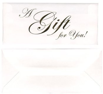 "Picture of item 737-395 a Gift Cards.  ""A Gift For You"".  Gold Color."