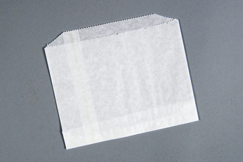 "Picture of item 209-202 a Sandwich Bag.  Grease Resistant Paper.  6"" x 4-1/2"".  Conventional Style.  White Color."