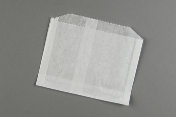 "Picture of item 203-303 a French Fry Bag.  Grease Resistant Paper.  5"" x 1-1/2"" x 4-1/2"".  Plain (Unprinted)."