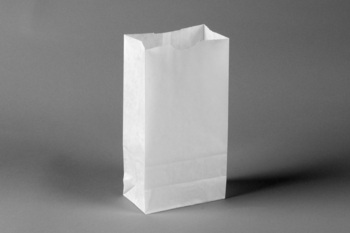 "Picture of item 300-102 a Bakery Bag. Waxseal Automatic ""S.O.S."" Style.  5"" x 3-1/8"" x 9-3/16"".  4 lb. Capacity.  White Color."