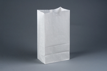 "Picture of item 300-103 a Bakery Bag.  Waxseal Automatic ""S.O.S."" Style.  6"" x 3-3/8"" x 11-1/8"".  6 lb. Capacity.  White Color."