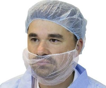 Picture of item 965-222 a Polypropylene Beard Cover. Color White