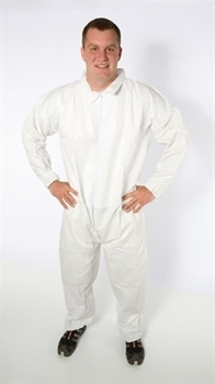 Coverall Breathable Micro Film Material. Small. Color White