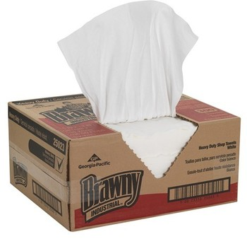 Picture of item GEP-25023 a Brawny® Professional H700 Cleaning Towel, Flat Pack, 15 X 13 in. White. 300 sheets.