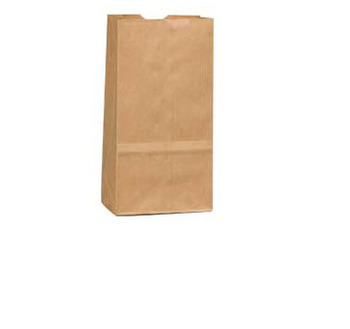 "Picture of item 310-300 a Grocery Bag.  Natural Kraft Paper.  1 lb. Size.  3-1/2"" x 2-3/8"" x 6-7/8"". 30# Basis Weight Paper.  500 Bags/Bundle, 8 Bundles/Bale."