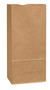 Picture of item 310-325 a Kraft Paper Grocery Bags. 8 1/4 X 5 1/4 X 18 in. 25 lb capacity. 500 count.