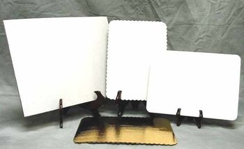 "Picture of item 262-304 a Southern Champion Corrugated Cake Pad. 25"" x 18"" (Full). White. Grease proof. 50/cs."