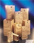 Picture of item 702-205 a BAG EXTRA HEAVY KRAFT 25# SHORT. 8-1/4 X 6-1/8 X 15-7/8 57# BASIS WEIGHT VIRGIN PAPER REPLACES 702-105.