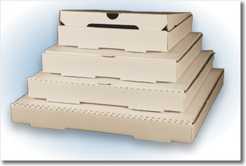 Picture of item 174-309 a PIZZA BOX 12  PLAIN WHITE. 12 X 12 X 2.