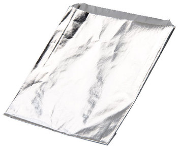 Picture of item 209-257 a Sandwich foil bag. 6.5 X 1.5 X 7.75. Plain Bag. Jumbo sandwich.